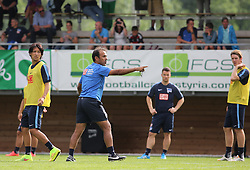 04.08.2014, Athletic Area, Schladming, AUT, Hertha BSC, im Bild Jos Luhukay (Hertha BSC, Trainer) bei Anweisungen an seine Spieler // during a training session of the German Bundesliga Club Hertha BSC at the Athletic Area, Austria on 2014/08/04. EXPA Pictures © 2014, PhotoCredit: EXPA/ Martin Huber