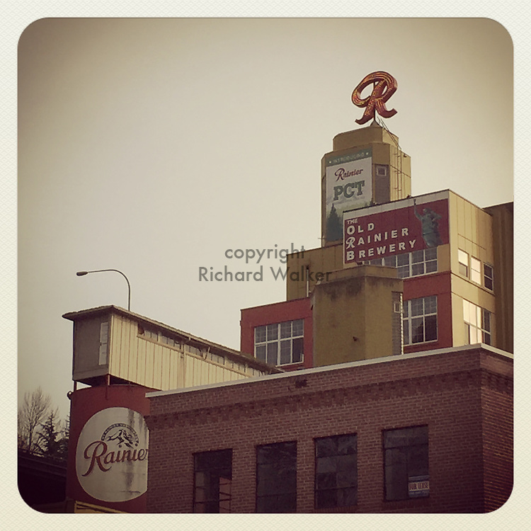 2019 JANUARY 11 - Old Rainier Brewery in SoDo area of, Seattle, WA, USA. Taken/edited with Instagram App for iPhone. By Richard Walker
