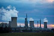 One of the Frutarom manufacturing plants with three of it's cooling towers operating on Belasis Avenue, Billingham, Teesside, United Kingdom. Frutarom is one of the leading companies in manufacturing flavours and fragrances worldwide. (photo by Andrew Aitchison / In pictures via Getty Images)(photo by Andrew Aitchison / In pictures via Getty Images)