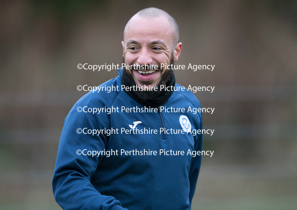 Trialist Julien Faubert pictured during training this morning at McDiarmid Park<br />Picture by Graeme Hart.<br />Copyright Perthshire Picture Agency<br />Tel: 01738 623350  Mobile: 07990 594431