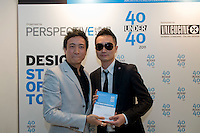 Pal Pang receives his 40 Under 40 Perspective magazine award.