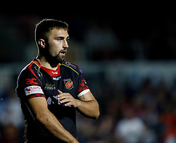 Dragons' Jordan Williams<br /> <br /> Photographer Simon King/Replay Images<br /> <br /> Guinness PRO14 Round 1 - Dragons v Benetton Treviso - Saturday 1st September 2018 - Rodney Parade - Newport<br /> <br /> World Copyright © Replay Images . All rights reserved. info@replayimages.co.uk - http://replayimages.co.uk
