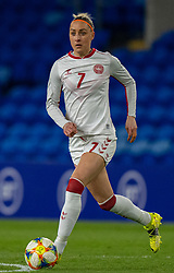CARDIFF, WALES - Tuesday, April 13, 2021: Denmark's Sanne Troelsgaard during a Women's International Friendly match between Wales and Denmark at the Cardiff City Stadium. (Pic by David Rawcliffe/Propaganda)
