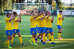 ZNK Pomurje players after football match between ZNK Pomurje and FC Nike in 2nd Round of UWCL qualifying 2019/20, on Avgust 10, 2019 in Sportni Park Beltinci, Beltinci, Slovenia. Photo by Blaž Weindorfer / Sportida