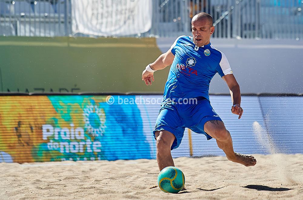 NAZARE, PORTUGAL - JUNE 1: Nuno Narciso Tavares of Atletico Licata BS during the Euro Winners Challenge Nazaré 2019 at Nazaré Beach on June 1, 2019 in Nazaré, Portugal. (Photo by Jose M. Alvarez)