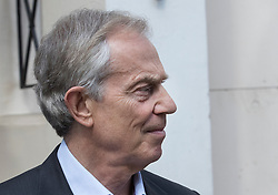 "© Licensed to London News Pictures. 06/07/2017. London, UK. Former Prime Minister Tony Blair is seen in central London. Earlier, Sir John Chilcot , head of the Iraq Inquiry, gave an interview in which he said Mr Blair was not ""straight with the nation"" in his decisions in the run up to the Iraq war.  Photo credit: Peter Macdiarmid/LNP"