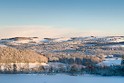 Selkirk Scotland in the autumn and winter. Winter view of Selkirk in the Scottish Borders.
