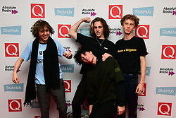 Ratboy and his entourage attending the Stubhub Q Awards 2016, in association with Absolute Radio, at the Roundhouse, London. PRESS ASSOCIATION Photo. Picture date: Wednesday 2 November 2016. Photo credit should read: Ian West/PA Wire.