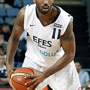 Efes Pilsen's Bootsy THORNTON during their Turkish Basketball Legague Play-Off semi final second match Efes Pilsen between Fenerbahce at the Sinan Erdem Arena in Istanbul Turkey on Friday 27 May 2011. Photo by TURKPIX