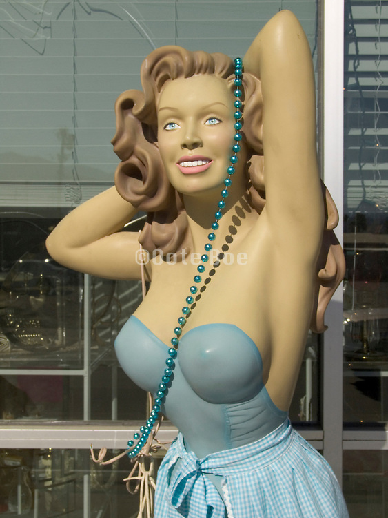 close up of sexy looking mannequin
