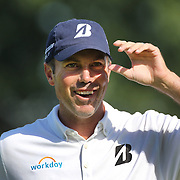 Matt Kuchar, USA, in action during the fourth round of theThe Barclays Golf Tournament at The Ridgewood Country Club, Paramus, New Jersey, USA. 24th August 2014. Photo Tim Clayton