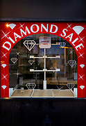 Jewelery store with its window display emptied each evening on 21st April 2021 in Blackpool, Lancashire, United Kingdom.