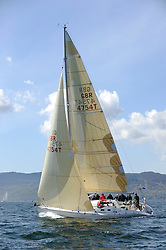The Clyde Cruising Club's Scottish Series held on Loch Fyne by Tarbert. Day 2 racing in a perfect southerly..GBR4754 , Sunrise , S.& N. Chalmers  , CCC , Sigma 400