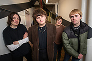 The Zangwills, a UK based indie rock band from Cheshire. The band members are (left to right): Sam Davies (lead guitar), Jake Vickers (vocals & guitar), Ed Dowling (bass), Adam Spence (drums).<br /> Photo©Steve Forrest/Workers' Photos