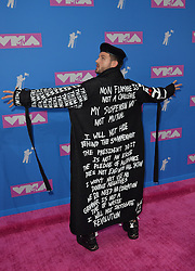 August 20, 2018 - New York, New York, United States - Nico Tortorella arriving at the 2018 MTV Video Music Awards at Radio City Music Hall on August 20, 2018 in New York City  (Credit Image: © Kristin Callahan/Ace Pictures via ZUMA Press)