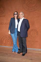Brune De Margerie and Alain Terzian in Village during French Tennis Open at Roland-Garros arena on June 10, 2018 in Paris, France. Photo by Nasser Berzane/ABACAPRESS.COM