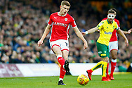 Barnsley midfielder Harvey Barnes (15) plays a pass during the EFL Sky Bet Championship match between Norwich City and Barnsley at Carrow Road, Norwich, England on 18 November 2017. Photo by Phil Chaplin.