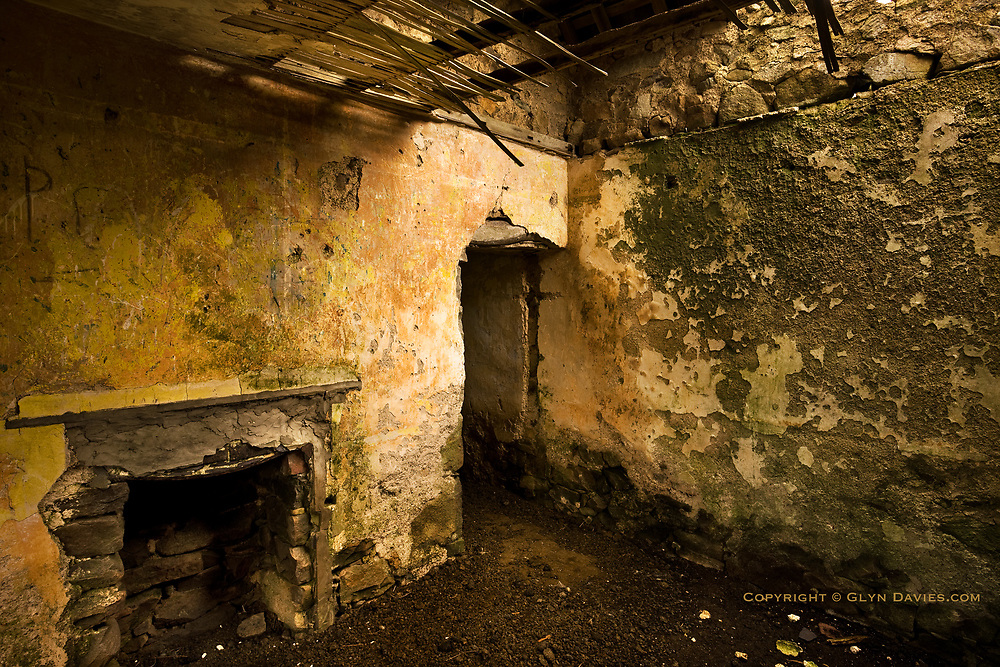 Another interior of Tŷ Uchaf. Every room had its own fireplace.