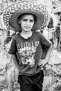 Portrait of a Palestinian boy in the Muslim Quarter of Jerusalem's Old City on October 20, 2010