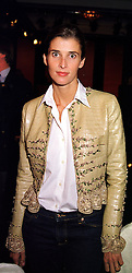 PRINCESS KYRIL OF BULGARIA at a fashion show in London on 28th September 1999.MWW 88