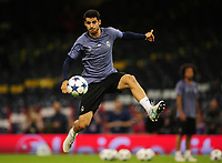 Alvaro Morata of Real Madrid<br /> <br /> Photographer Kevin Barnes/CameraSport<br /> <br /> UEFA Champions League Final - Training session - Juventus v Real Madrid - Friday 2nd June 2017 - Principality Stadium - Cardiff<br />  <br /> World Copyright © 2017 CameraSport. All rights reserved. 43 Linden Ave. Countesthorpe. Leicester. England. LE8 5PG - Tel: +44 (0) 116 277 4147 - admin@camerasport.com - www.camerasport.com