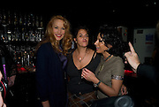 JERRY HALL; TRACEY EMIN; NANCY DELL D'OLIO, Cloak and Dagger, - Amanda Eliasch - book launch - Entertainment by Miss Polly Rae and her Hurly Burly girls. <br />Soho Revue Bar, 11-12 Walkers Court, London *** Local Caption *** -DO NOT ARCHIVE-© Copyright Photograph by Dafydd Jones. 248 Clapham Rd. London SW9 0PZ. Tel 0207 820 0771. www.dafjones.com.