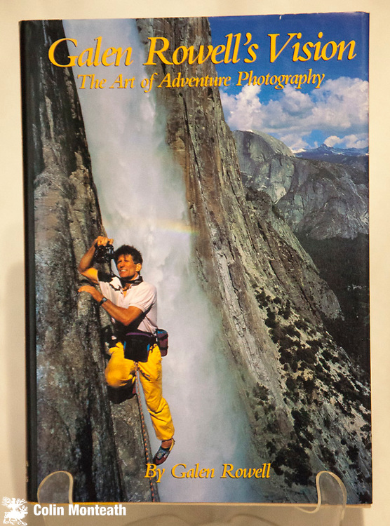 GALEN ROWELL'S VISION - The art of adventure photography, Mountain Light Press, 1993, 288 page hardback VG+ with VG jacket - a series of essays on photographic technique when in the mountains. Profusely illustrated in colour - $55.