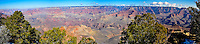 United States, Arizona, Grand Canyon. Panorama view from Yaki Point.