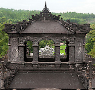 Architecture of a building in Khai Dinh Tomb, Hue, Vietnam, Southeast Asia