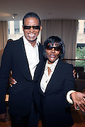 """l to r:  b.michaels and Cicely Tyson at b.michael America Spring 2010 Collection """" Advanced American Style """" held at Christie's in Rockefeller Plaza on September 16, 2009 in New York City."""