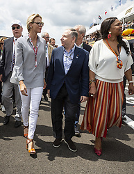 Princess Charlene of Monaco and Jean Todt arriving at the Formula One Grand Prix of France at Circuit Paul Ricard on June 24, 2018 in Le Castellet, France. Photo by Marco Piovanotto/ABACAPRESS.COM