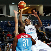 Efes Pilsen's Erwin DUDLEY (C) during their Turkish Basketball league match Efes Pilsen between MP Trabzonspor at the Sinan Erdem Arena in Istanbul Turkey on Friday 11 March 2011. Photo by TURKPIX