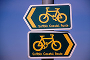 A87DJ0 Signs for Suffolk Coastal Cycle route