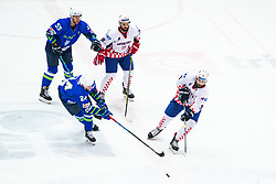 TICAR Rok (SLO) vs TADIC Marko (CRO) during OI pre-qualifications of Group G between Slovenia men's national ice hockey team and Croatia men's national ice hockey team, on February 7, 2020 in Ice Arena Podmezakla, Jesenice, Slovenia. Photo by Peter Podobnik / Sportida