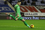 Gillingham Keeper Stuart Nelson during the Sky Bet League 1 match between Wigan Athletic and Gillingham at the DW Stadium, Wigan, England on 7 January 2016. Photo by Pete Burns.