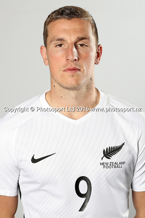 Chis Wood. New Zealand All Whites Football team headshots photoshoot at the Grand Millenium Hotel, Auckland.<br /> 11 November 2016.<br /> Copyright photo: Shane Wenzlick / www.photosport.nz