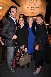Mark-Francis Vandelli, Kimmy Murdoch, Elizabeth Esteve and Victoria Baker Harber at the 2017 PAD Collector's Preview, Berkeley Square, London, England. 02 October 2017.