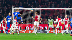 13-03-2019 NED: Ajax - PEC Zwolle, Amsterdam<br /> Ajax has booked an oppressive victory over PEC Zwolle without entertaining the public 2-1 / Zian Flemming #14 of PEC Zwolle, Matthijs de Ligt #4 of Ajax