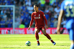 Virgil van Dijk of Liverpool in action- Mandatory by-line: Nizaam Jones/JMP - 21/04/2019 -  FOOTBALL - Cardiff City Stadium - Cardiff, Wales -  Cardiff City v Liverpool - Premier League