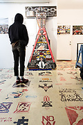 The lobby of the Museum of Reclaimed Urban Space, housed in a former squat in New York's Alphabet City.