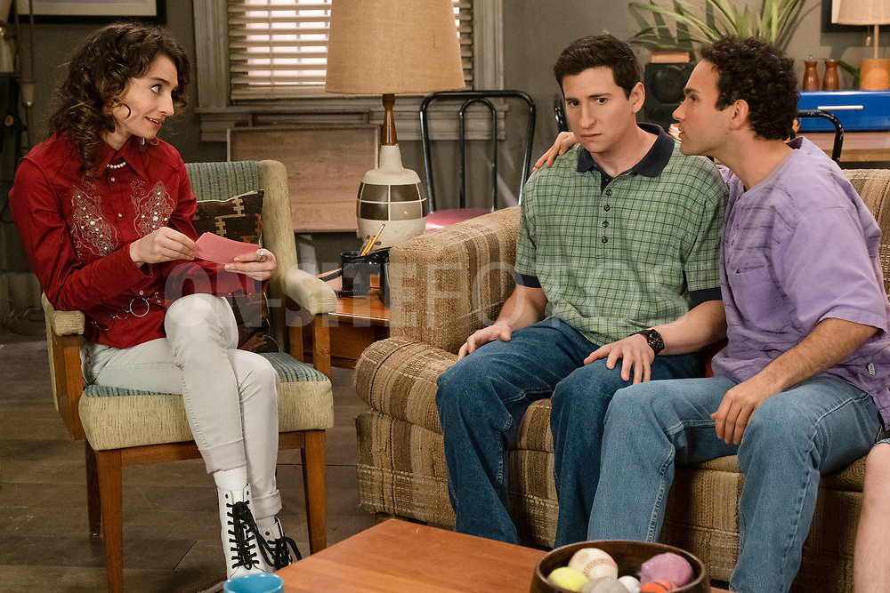 """THE GOLDBERGS - """"The Dating Game"""" – Trying to move on from their breakup, Erica goes on a date with a guy from the coffee shop while Geoff ends up on an episode of """"The Dating Game,"""" which winds up making things even more difficult for them both. Meanwhile, Beverly is thrilled to learn that Murray has spontaneously purchased a shore house until she realizes it's not quite the luxury home she imagined on a new episode of """"The Goldbergs,"""" WEDNESDAY, APRIL 21 (8:00-8:30 p.m. EDT), on ABC. (ABC/Scott Everett White)<br /> BETH TRIFFON, SAM LERNER"""