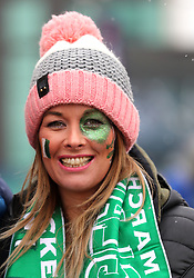 An Ireland fan prior to the NatWest 6 Nations match at Twickenham Stadium, London. PRESS ASSOCIATION Photo. Picture date: Saturday March 17, 2018. See PA story RUGBYU England. Photo credit should read: Gareth Fuller/PA Wire. RESTRICTIONS: Editorial use only, No commercial use without prior permission.