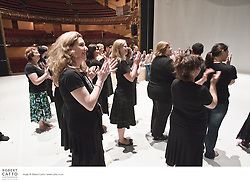 Festival staff perform a special welcome powhiri for erformers from Sutra at the St James Theatre, one of the venues in the New Zealand International Arts Festival in Wellington.
