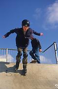 AF5CP2 Children playing at a skate park