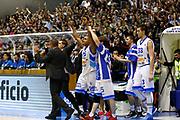 DESCRIZIONE : Capo dOrlando Lega A 2014-15 Orlandina Basket Olimpia Emporio Armani EA7 Milano<br /> GIOCATORE : Team Orlandina<br /> CATEGORIA : Esultanza Team<br /> SQUADRA : Orlandina Basket EA7 Emporio Armani Olimpia Milano<br /> EVENTO : Campionato Lega A 2014-2015 <br /> GARA : Orlandina Basket EA7 Emporio Armani Olimpia Milano<br /> DATA : 19/04/2015<br /> SPORT : Pallacanestro <br /> AUTORE : Agenzia Ciamillo-Castoria/G.Pappalardo<br /> Galleria : Lega Basket A 2014-2015<br /> Fotonotizia : Capo dOrlando Lega A 2014-15 Orlandina Basket EA7 Emporio Armani Olimpia Milano