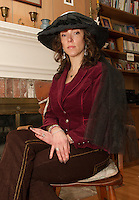 """Tamara McGonagle will portray Anna Samson Bradley in Judy Buswell's play """"I Have Been Busy All Day"""" inspired from Anna's journals written through her daily life the 1890's.  (Karen Bobotas/for the Laconia Daily Sun)"""