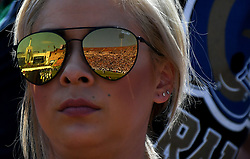 September 10, 2017 - Los Angeles, California, U.S. - A football fan looks on in the first half of a NFL football game between the Indianapolis Colts and the Los Angeles Rams at the Los Angeles Memorial Coliseum on Sunday, Sept. 10, 2017 in Los Angeles. (Photo by Keith Birmingham, Pasadena Star-News/SCNG) (Credit Image: © San Gabriel Valley Tribune via ZUMA Wire)
