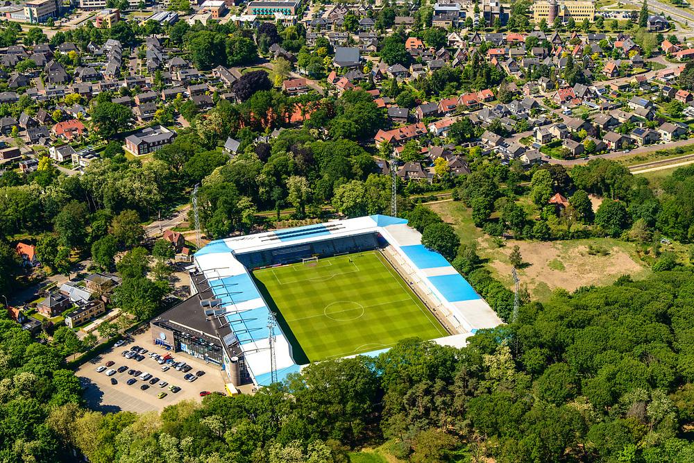 Nederland, Gelderland, Achterhoek, 29-05-2019; Doetinchem, Stadion De Vijverberg, thuis stadion van voetbalclub De Graafschap.<br /> Doetinchem, De Vijverberg stadium, home stadium of football club De Graafschap.<br /> luchtfoto (toeslag op standard tarieven);<br /> aerial photo (additional fee required);<br /> copyright foto/photo Siebe Swart