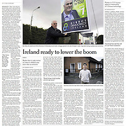 "Tearsheet of ""House Repossessions in Ireland"" published in the International Herald Tribune"