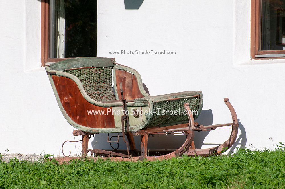 Ancient Sledge Photographed in Neustift, Austria